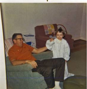 Dad and me in our house in Bergoo, WV.  I was about 5 years old.